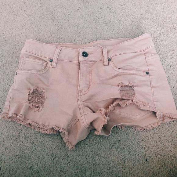 Zumiez Pants - 🌟denim pink shorts🌟